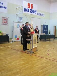 Prezydent Miasta Piotr Jedliński na jubileuszu 55-lecia